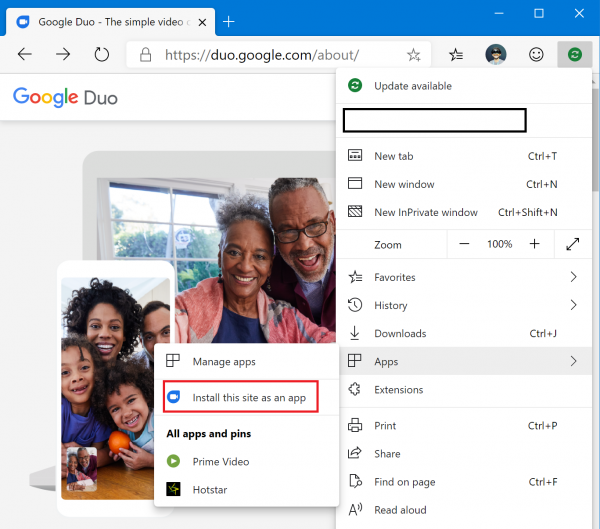 How to install Google Duo on Windows 10