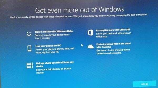 OOBE or Out-Of-Box Experience in Windows
