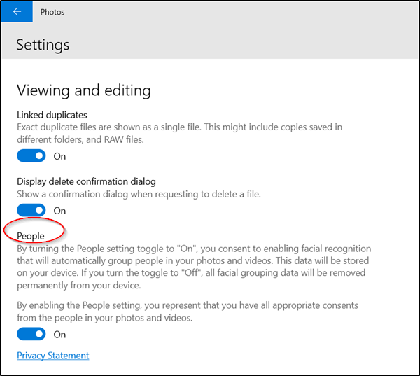 Find and Tag People in Windows 10 Photos App