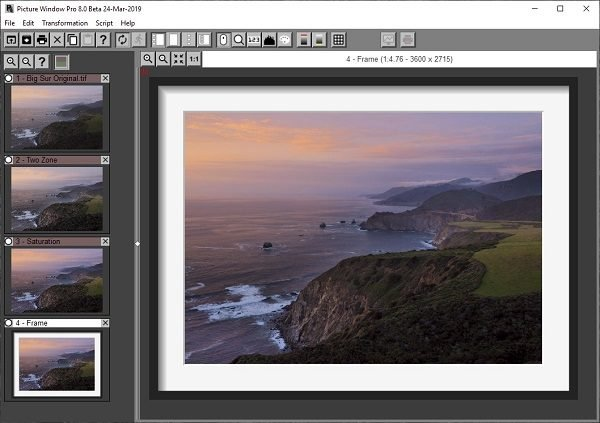 Picture Window Pro image editing software