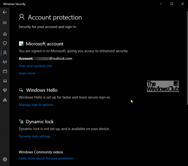Account Protection in Windows 10