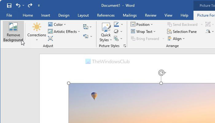 How to use Word Picture Editing Tools to edit images