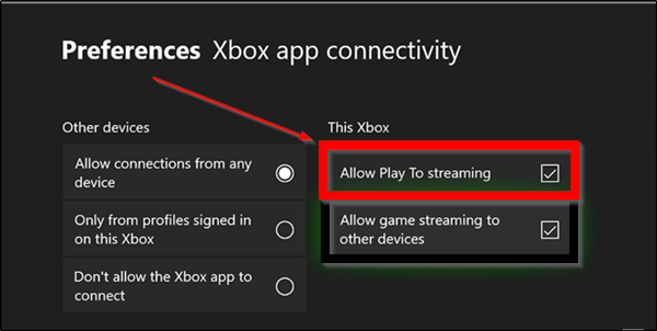 Stream Music & Video content to Xbox console using Play To feature