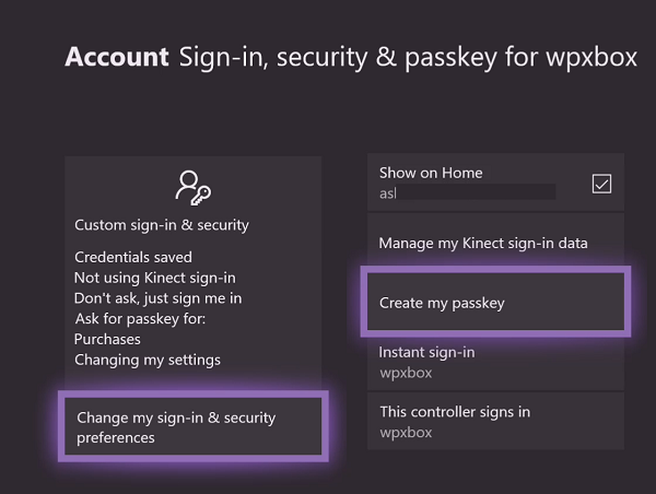 Change Purchase Sign-in Settings on Xbox One