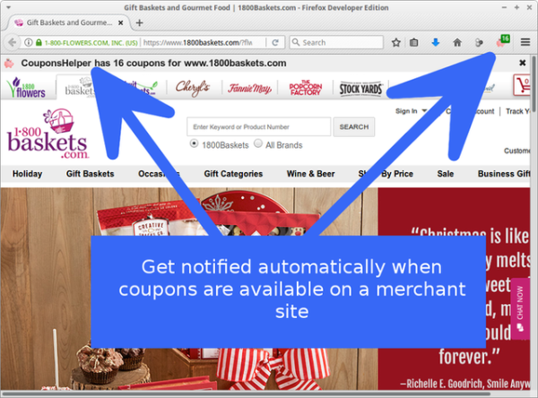 Coupon add-ons for Firefox