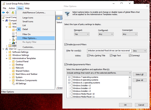 How to Search Group Policy in Windows 10