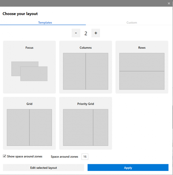 Create Multiple Zones with custom layout