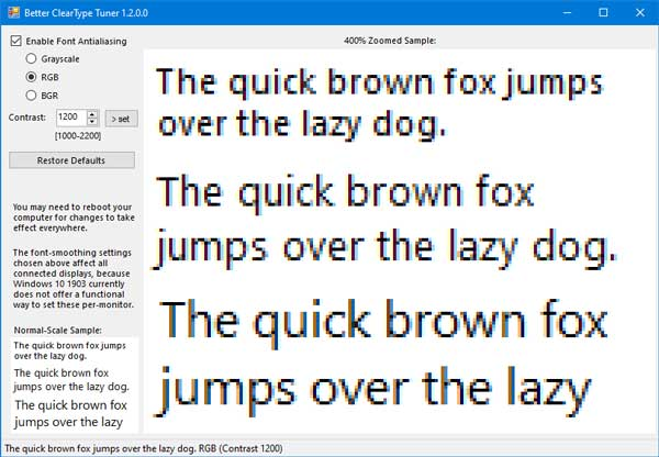 Fix blurry font and font-smoothing on Windows with Better ClearType Tuner