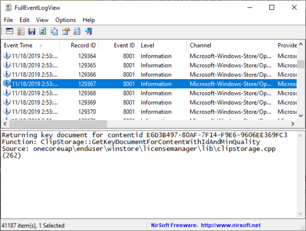 Use Full Event Log View to view Windows logs
