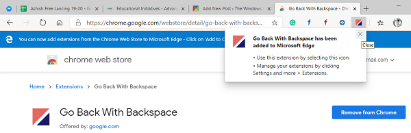 Enable backspace in Edge & Chrome