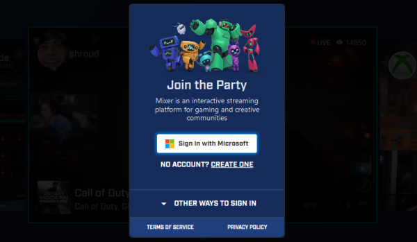How to link Mixer account to your Microsoft account