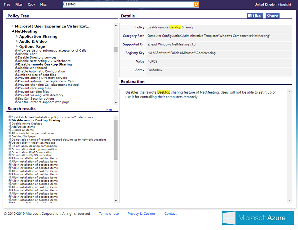Search Group Policy Online