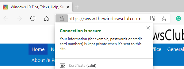 How do I know whether to trust a website on (NEW) Microsoft Edge