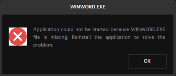 Fix WinWord.exe errors
