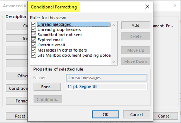 Change and Manage Outlook Views