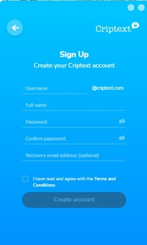 Criptext encrypted email service