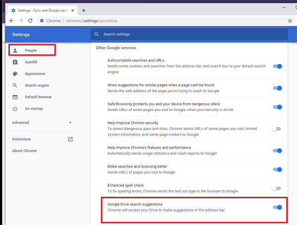 How to Turn on or Off Drive suggestions for Chrome Browser (GSuite)