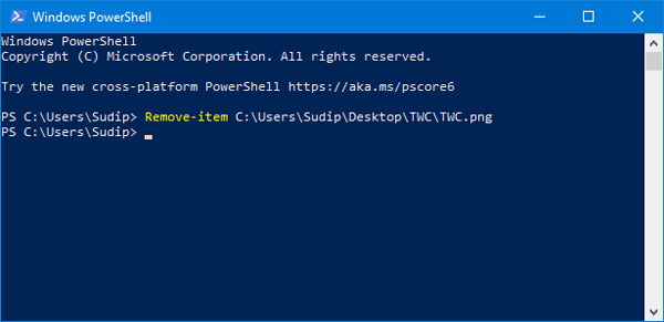 How to delete files and folders using Windows PowerShell