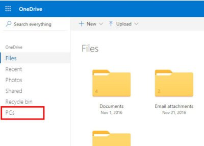 Use OneDrive to access files on your Windows 10 PC