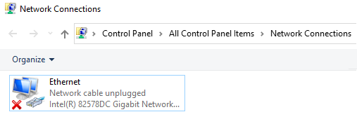 Network Cable unplugged