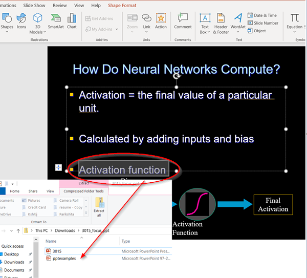 link one PowerPoint presentation to another