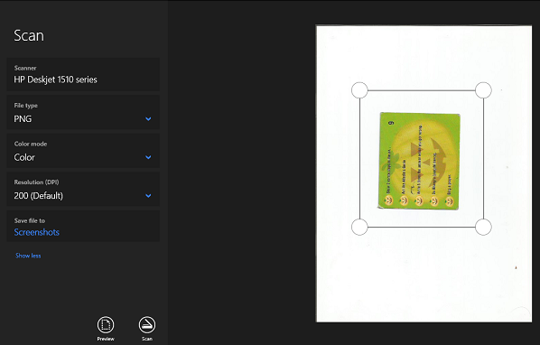 Preview Scan Windows Scan App