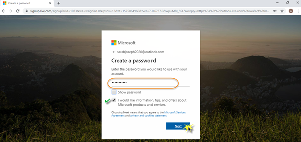 Sign up Microsoft Outlook Acount - The Windows Club