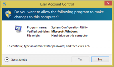 To continue, type an administrator password - UAC