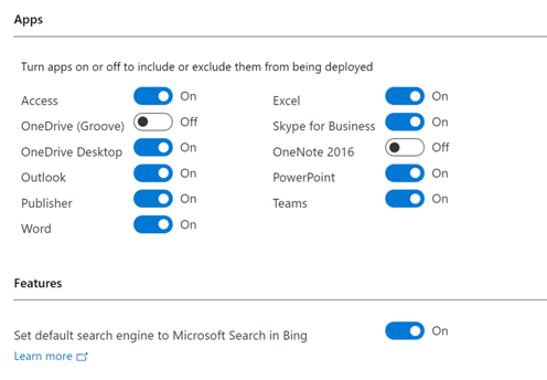 Bing Toggle Configuration Manager