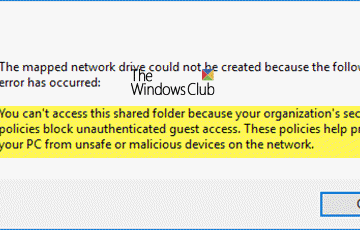 Can't access shared folder because of organization's security policies