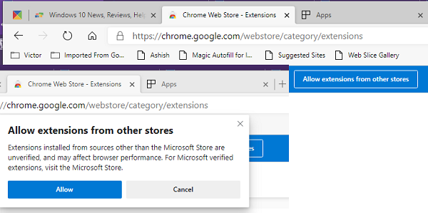 Chrome Extension in Microsoft Edge Chromium