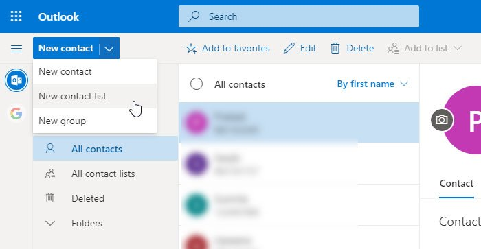 Create an email list to select multiple contacts at once in Outlook