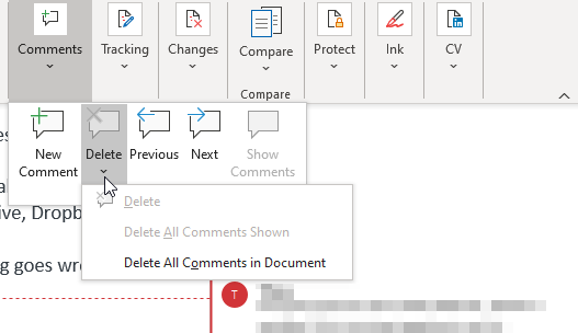 Delete All Comments Final document