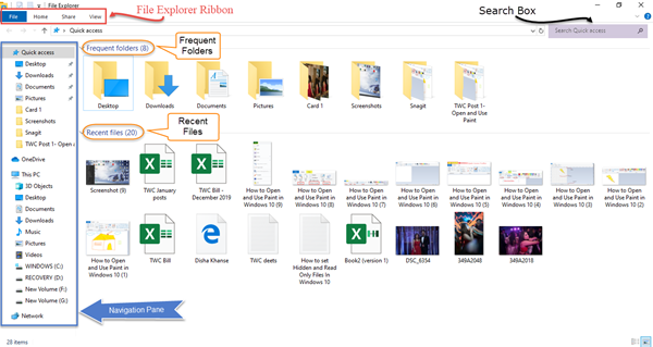 File Explorer - Features and Shortcuts