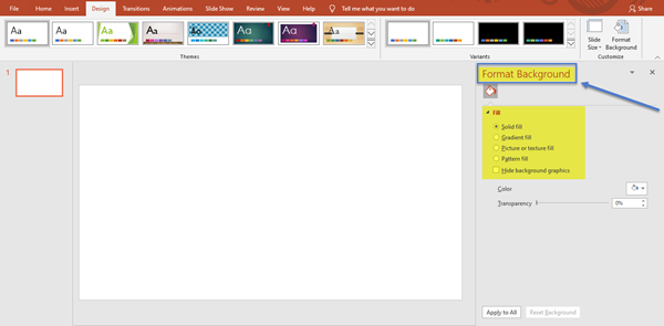 How to change Background in PowerPoint