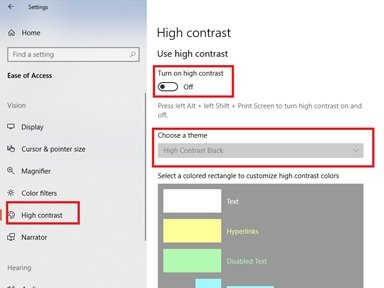 Windows 10 Accessibility Features