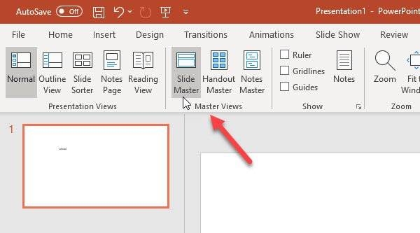 How to add a watermark to PowerPoint slides