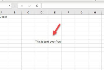 How to fix text-overflow in Microsoft Excel