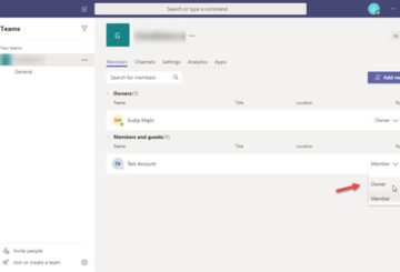 switch Member Role and remove a Member in Microsoft Teams