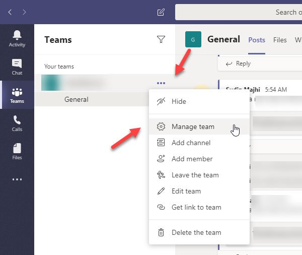 How to switch member role and remove member from Microsoft Teams