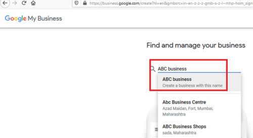 List your business with Google My Business