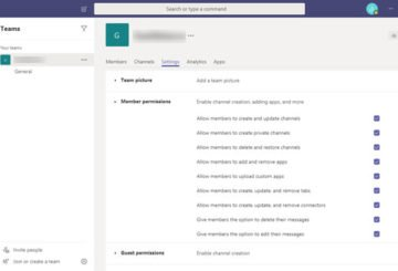 How to change Permissions in Microsoft Teams