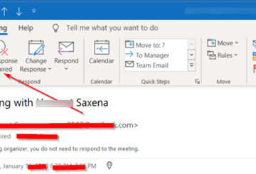 outlook meeting response options missing
