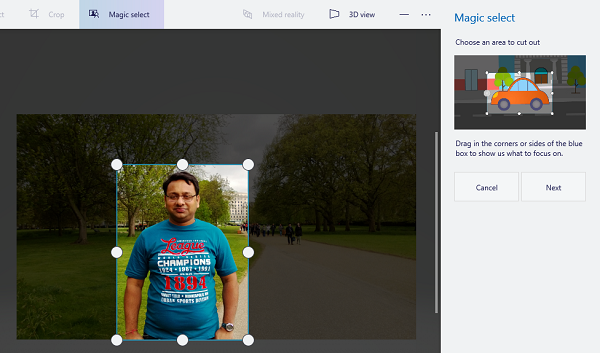 How to remove Background image with Paint 3D in Windows 10