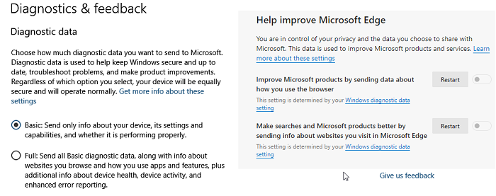 Prevent Browsing Data to be Sent to Microsoft