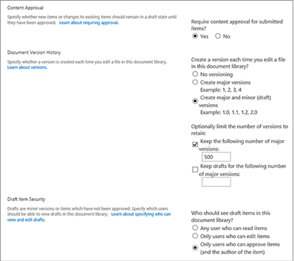 Versioning in SharePoint