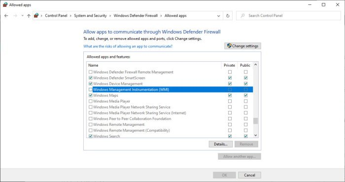 WMI Windows Defender Firewall