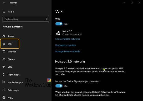 Wi-Fi Settings are missing on Windows 10 or Surface