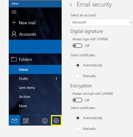 Windows 10 Mail Email Security