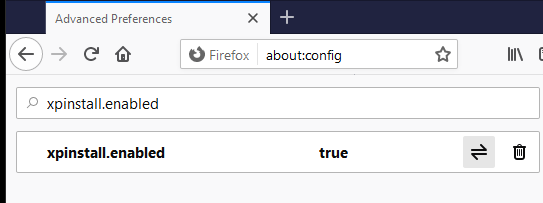 XPInstall Enabled Firefox